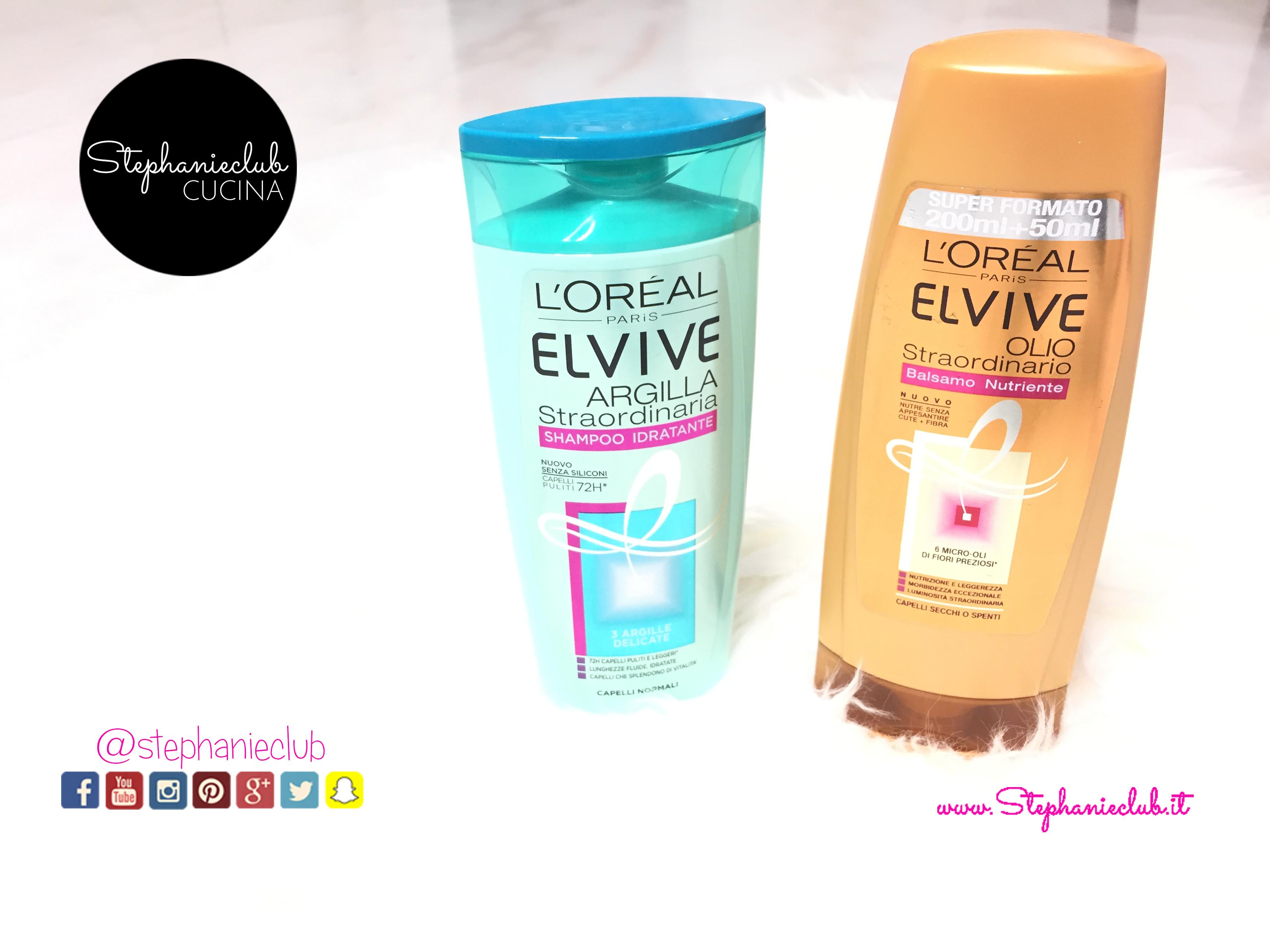 Recensione L'Oreal Elvive shampoo Argilla Straordinaria e balsamo Olio Straordinario_02