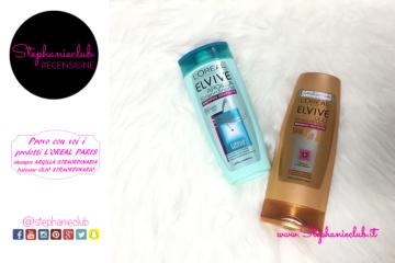 Recensione L'Oreal Elvive shampoo Argilla Straordinaria e balsamo Olio Straordinario