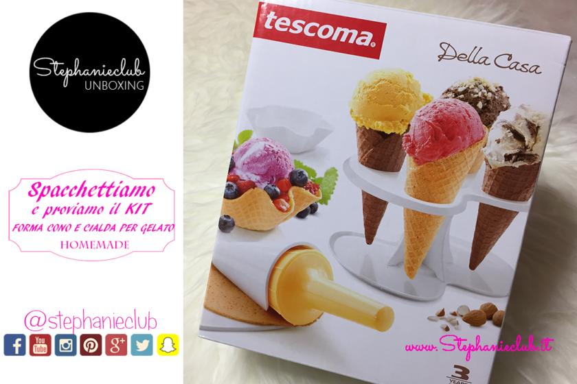 Kit forma coni e cialde per gelato della Tescoma