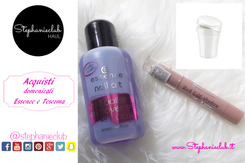 Il mio shopping domenicale MakeUp Essence e accessori Tescoma per la cucina