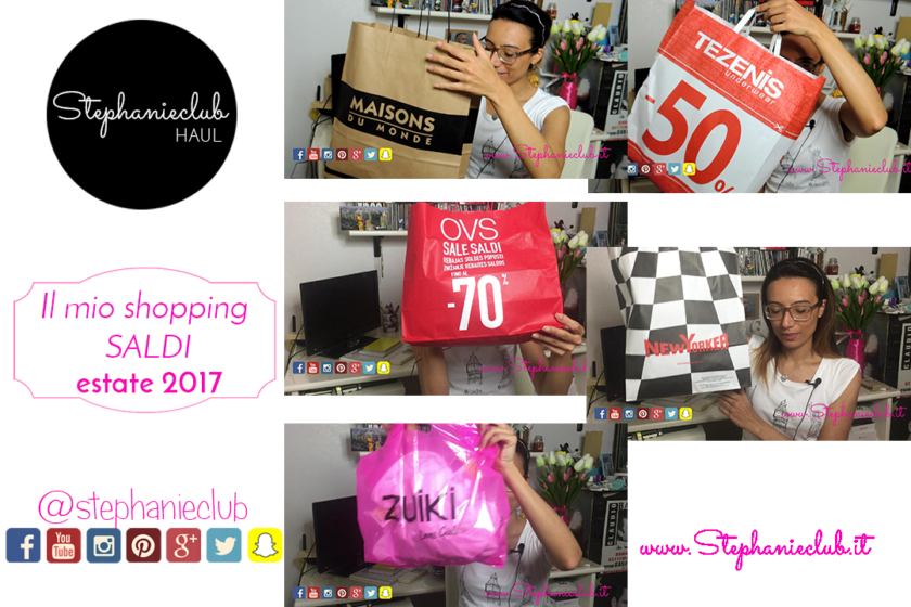 Il mio shopping da Tezenis - OVS - ZUIKI - Maisons du Monde - SALDI - estate 2017
