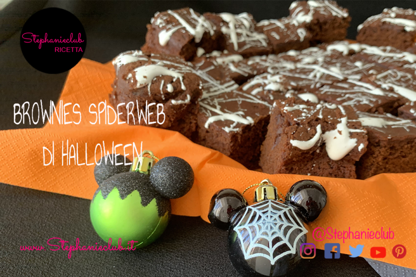 BROWNIES SPIDERWEB DI HALLOWEEN