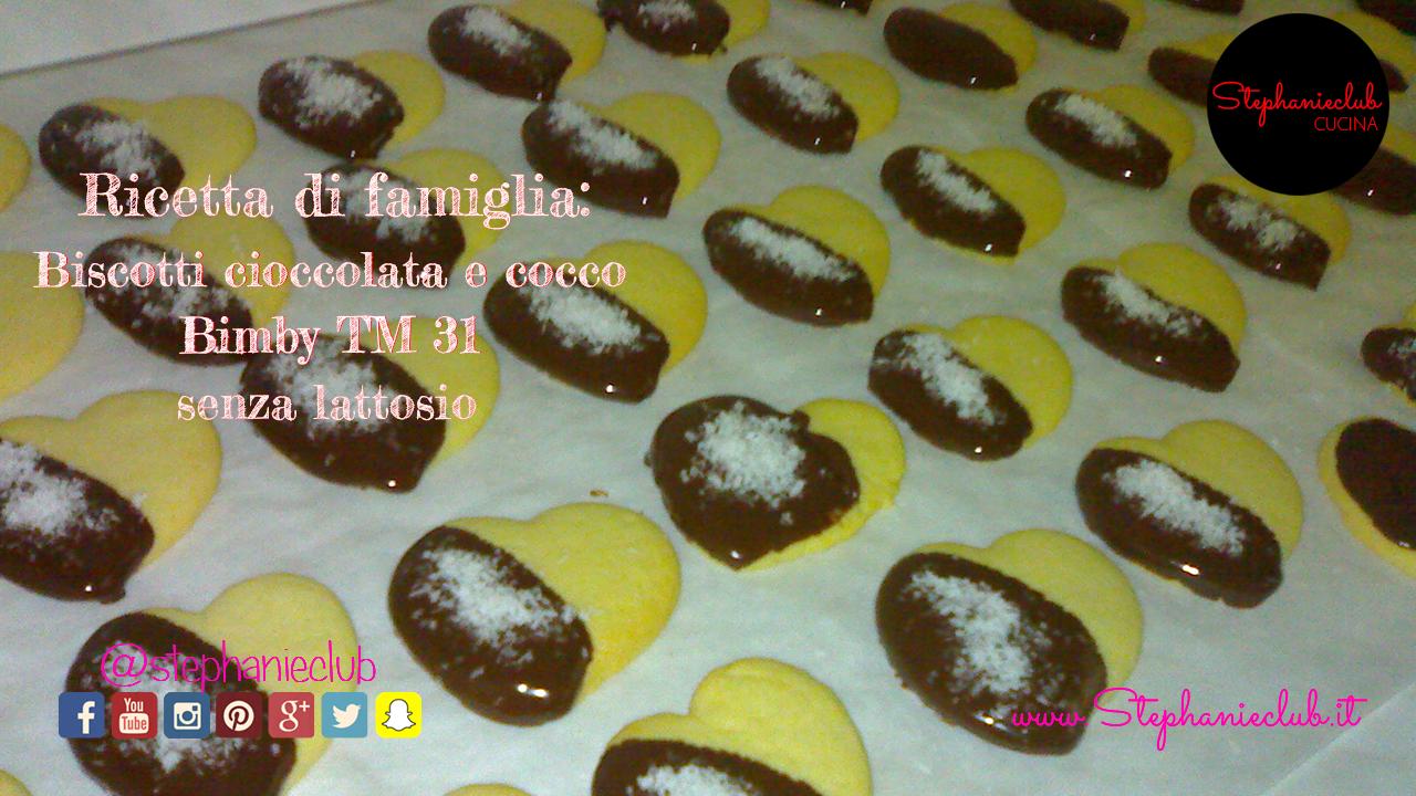 Biscotti cioccolato e cocco (ricetta di famiglia preparata con Bimby TM31)