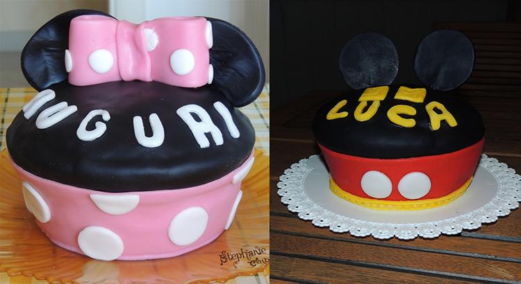 Minnie & Mickey Mouse Cupcakes giganti
