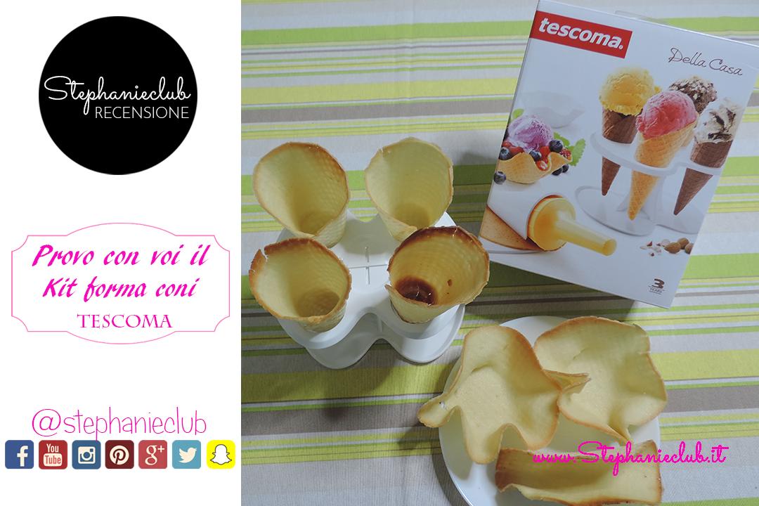 Recensione – Kit forma coni e cialde per gelato della Tescoma